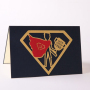 Hot Sale 3D Handmade Super Man DIY Paper Folding Greeting Cards  Paper Gift Cards With Envelope For Father's day Gift