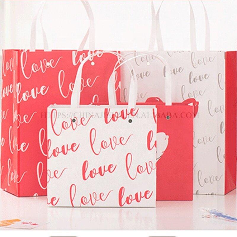 Custom size large paper gift bag wholesale bag paper logo