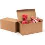 Custom kraft cardboard non window lock corner bread box cake box kraft paper