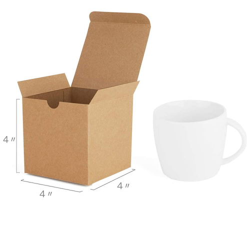 Customizable wholesale premium cube recycled paper paper box wedding mother s day kraft paper box