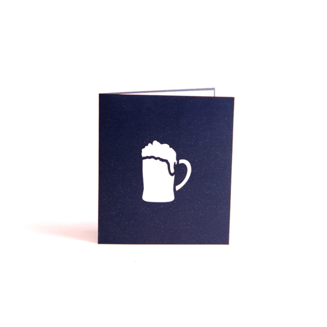Happy Father's Day Fancy 3D Effect Laser Cutting Invitation Greeting Card Postcards Paper Gift Cards  With Envelope