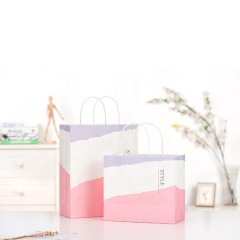 Custom print design gift kraft luxury gift bag paper