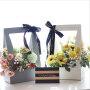 2020 new can wholesale green black pink waterproof portable flower basket carton