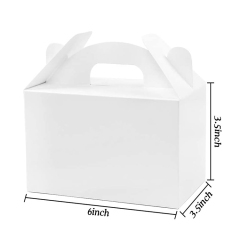 New Art and Crafts Blank White Candy Gift Cardboard Box Picnic Snacks Macarons Portable Cake Box
