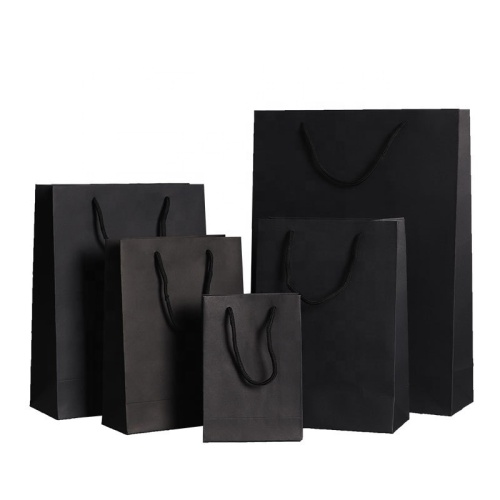 Custom print design gift kraft paper shopping bag