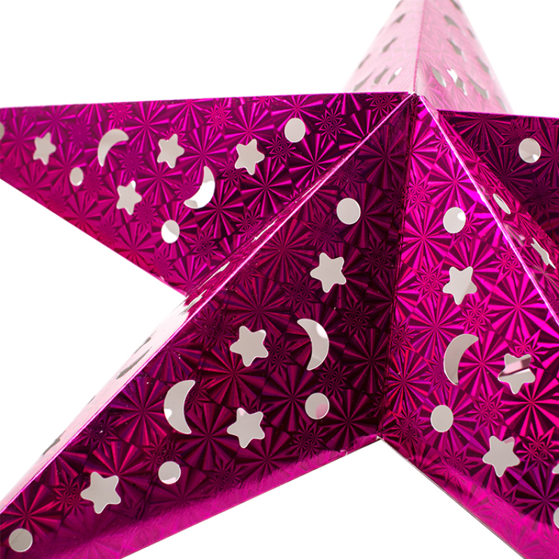 Can be wholesale Christmas party decoration supplies 3D pentagram lampshade paper lantern crafts
