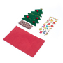 Hot Christmas cowhide greeting card in multiple colors and sizes beautiful Christmas card