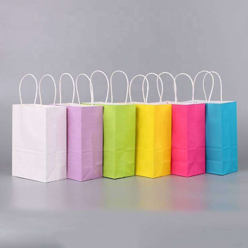 Retail take away fast food kraft paper bag price