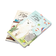 Learning Office Promotion Gifts Children Portable Cartoon Design Magnetic Buckle Mini Notebook
