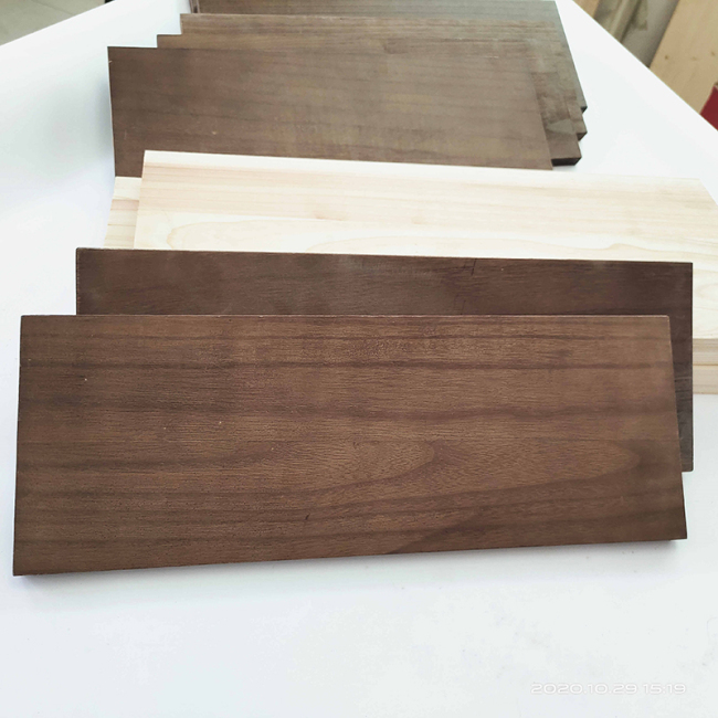 Carbonized Wood Panel for Wall Mounted Shelves