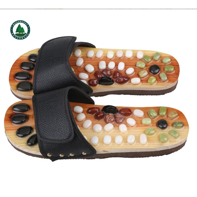 Chinese Acupuncture Stone Massage Shoes High Quality Natural Cobble Stone