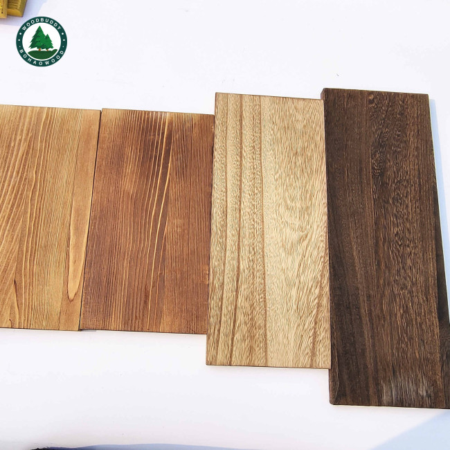 Solid Pine Wood Board Carbonized Wood Board for Wall Mounted Floating Shelves