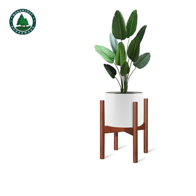 Nordic Style Wooden Green Plant Pot Stand