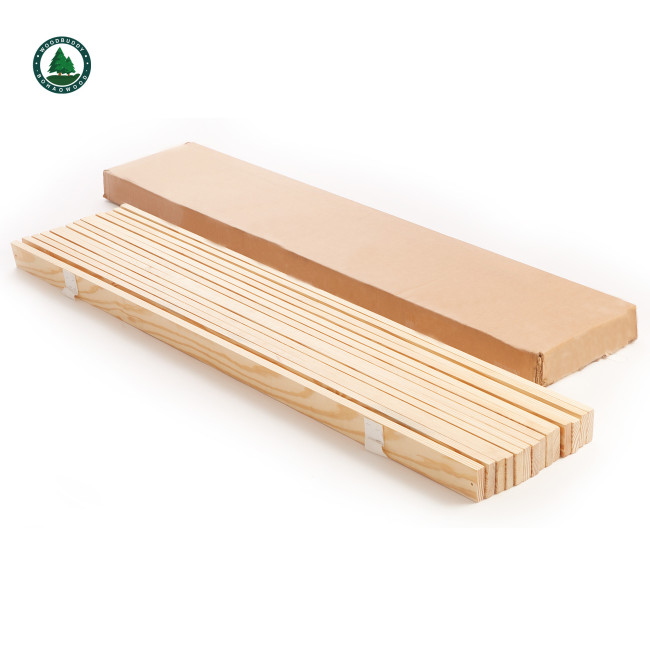 Wooden Bed Slats Solid Pine Wood Wooden Furniture Parts