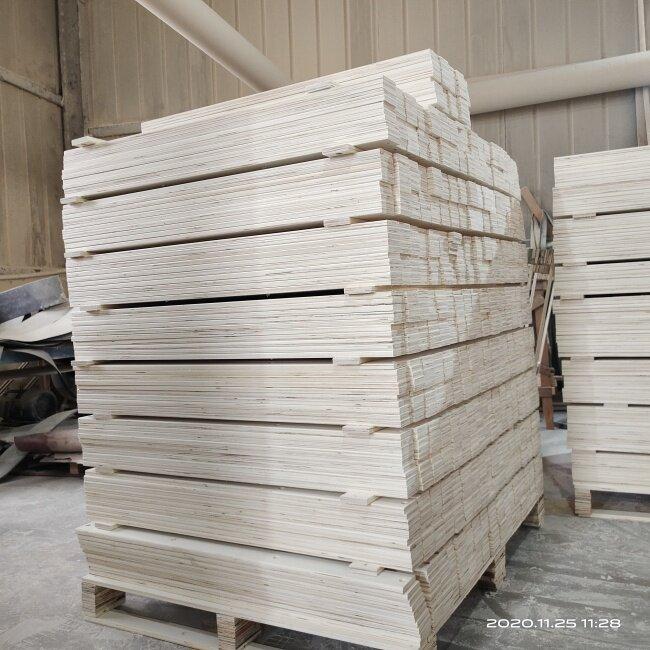 Wooden Bed Slats Solid Poplar Wood Wooden Furniture Parts