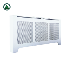Radiator Cover Heating Cabinet White Painting MDF Adjustable Size