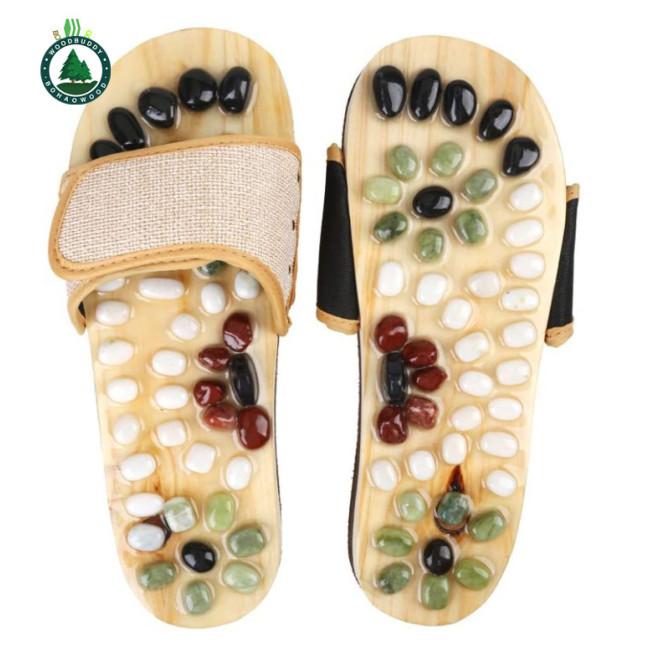 Foot Massager Shoes, Foot Massage Slippers for Women and Men, Acupressure Massage Shoes Foot Care Shoes for Foot Relaxation