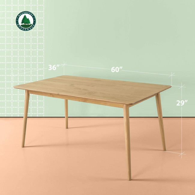 Mid-Century Dining Table 47 inch, Solid Wood Kitchen Table Computer Desk for Kichen Dining Office, Natural