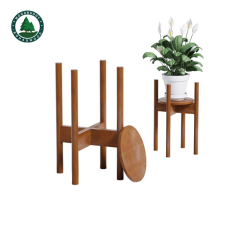 Beech Wood Bamboo Wood Green Plant Stand for Home Deco