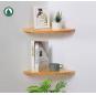 Corner Wall Shelf Set of 3 , 12inch Corner Floating Shelves, Hanging Corner Shelf for Bathroom, Kitchen,Living Room,Bedroom ,Solid Pine Wood