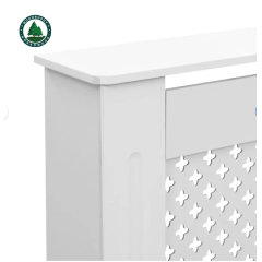 Radiator Cover Cabinet, White Heating Radiator Cover Cabinet for Home and Office Decoration