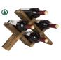 4-Bottle Countertop Rustic Brown Wood Wine Rack