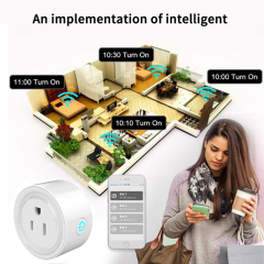 SURWAY Smart plug,  Mini Wifi Outlet Works with Alexa, Google Home,, Remote Control Your Home Appliances from Anywhere, ETL Listed,Only Supports 2.4GHz Network(4Packs)