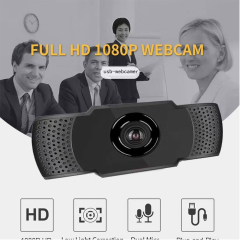 SURWAY AutoFocus 1080p Webcam with Stereo Microphone and Privacy Cover, FHD USB Web Camera, for Streaming Online Class, Compatible with Zoom/Skype/Facetime/Teams, PC Mac Laptop Desktop