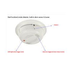 1080P Real Smoke detector alarm with Audio HD IP camera