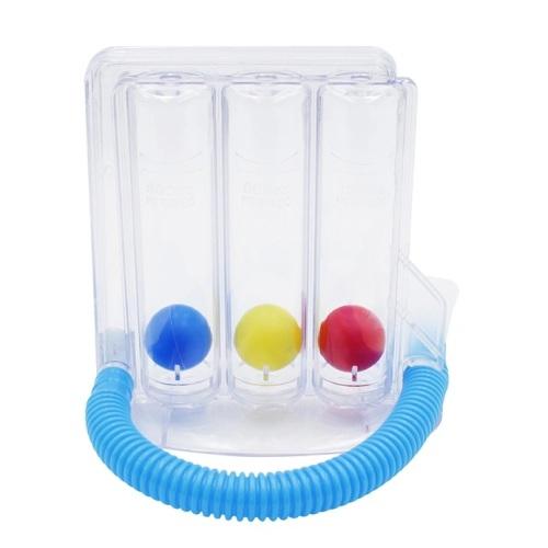 Medical three-ball type medical stimulating deep breathing exercise device spirometer