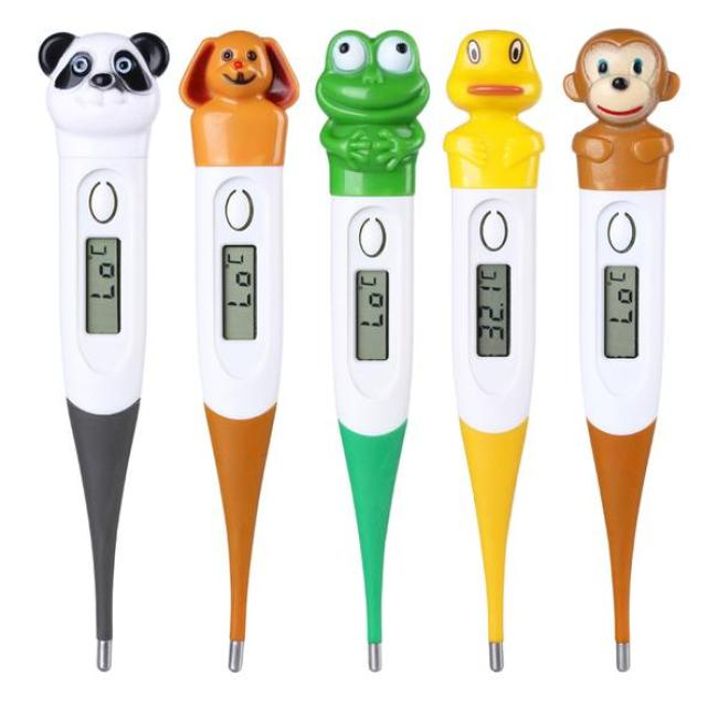 Cartoon Electronic Baby Adult Thermometer Soft Head Household Digital Thermometer