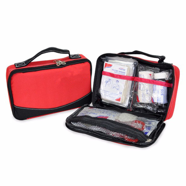 Red Camping Emergency Survival Waterproof First Aid Kit Bag with Big Capacity