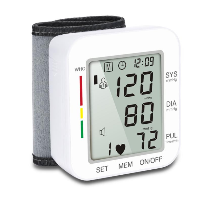 The latest digital wrist sphygmomanometer pulse rate heart rate meter instrument medical equipment sphygmomanometer