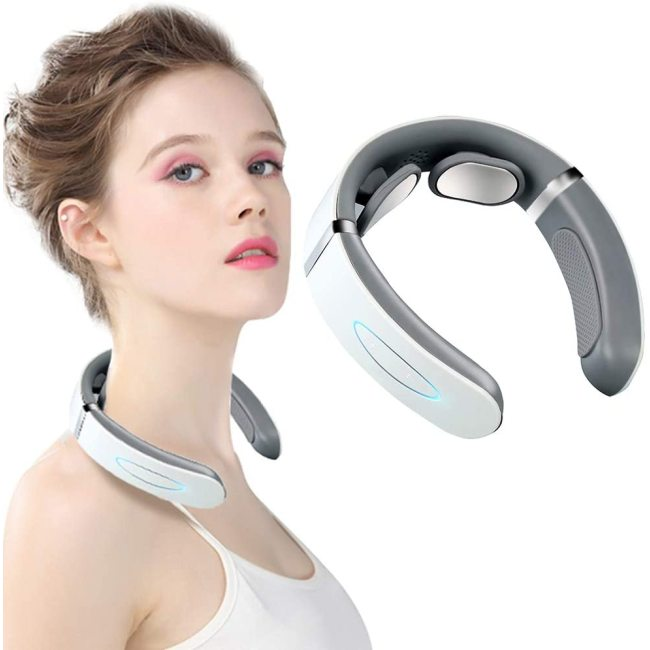 Household portable rechargeable pulse shoulder and cervical spine massager