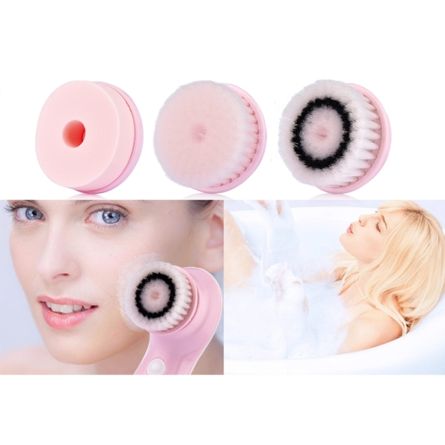 Face wash brush to clean the skin variety of brush heads suitable for different skin types usb charging
