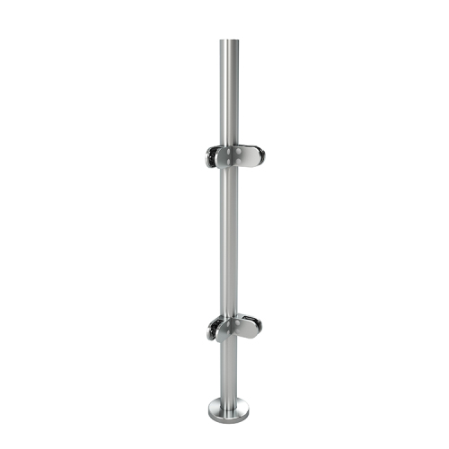 german craft glass fence post balcony railing deck stainless steel glass stairs railing round post
