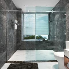 stainless steel shower frameless glass sliding door rollers fitting sliding glass doors hardware for home