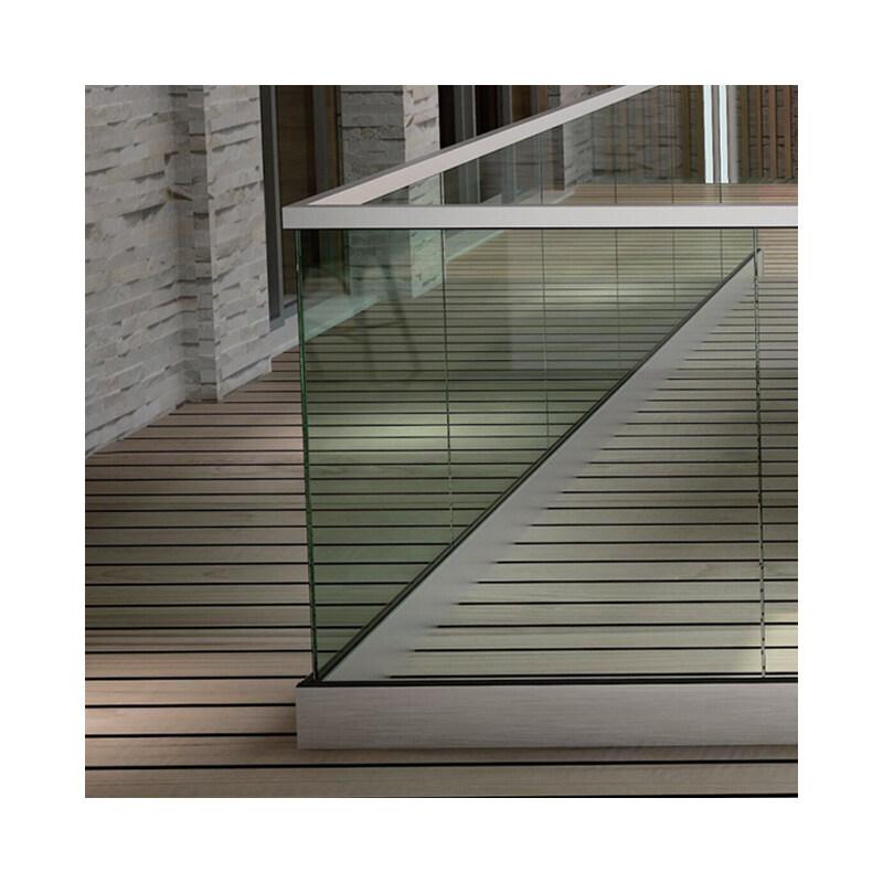 aluminium security balustrades aluminum metal frameless profile u channel clamp glass railing