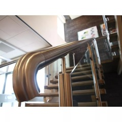 stainless steel railing AISI 304 outdoor handrail stainless steel pipe fitting 90 degree elbow