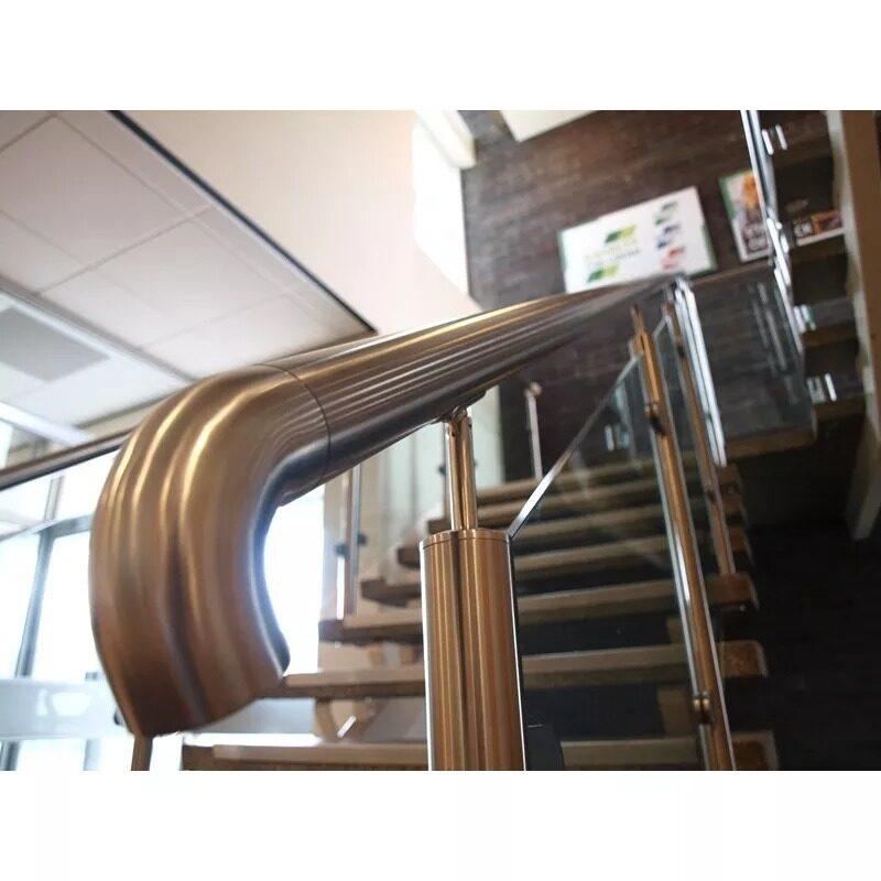 304 316 stainless steel balustrade handrail railing seamless elbow