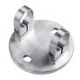 304 Stainless Steel Round Tube Button Type Glass Adapter Balcony Handrail Support for handrails