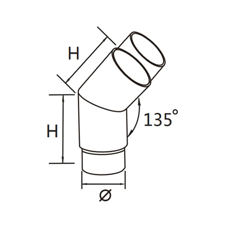 stainless steel elbow pipe fittings stainless steel 135 degree elbow for balustrade