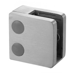 glass standoff hardware glass flat handrail clamp holder square stainless steel clamp