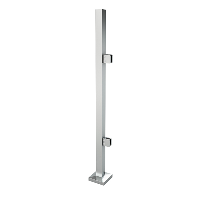 german craft side mounted stainless balustrade square post glass fence post balcony railing post