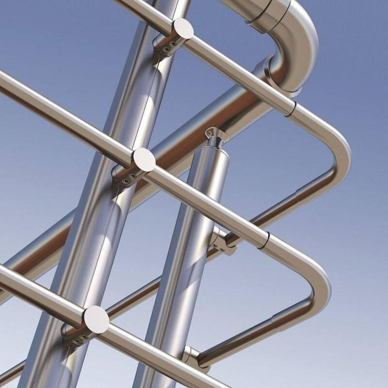Balustrade Stainless Steel Round Cross Bar Holder Stainless Steel railing Round Bar Holder