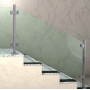 stainless steel glass clamp outdoor railing bathroom glass balcony door clamp