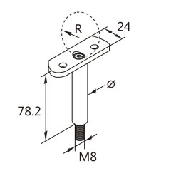 easily install AISI304 stainless steel handrail rod for connecting two any angle pipes