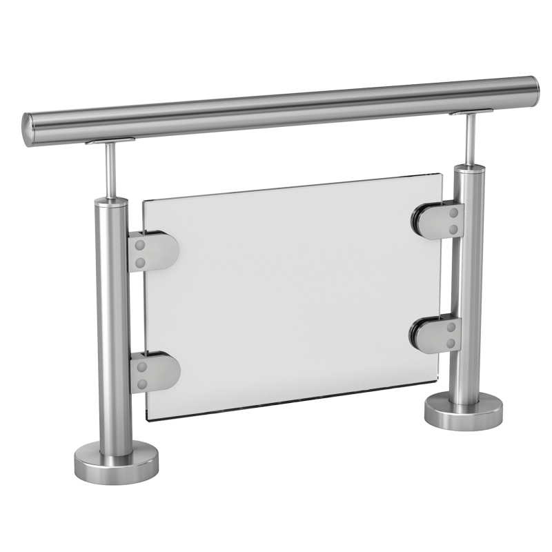 Italian design ss stainless railing balustrade accessories architectural railings - frameless glass clamp railing system