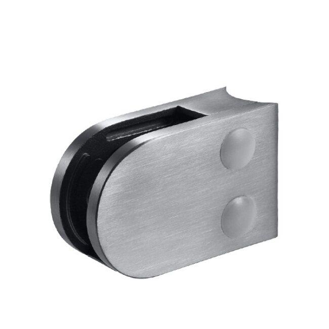 Bathroom Stainless Steel Fitting Post Glass Clip Holder Bracket D Shape Glass Clamp