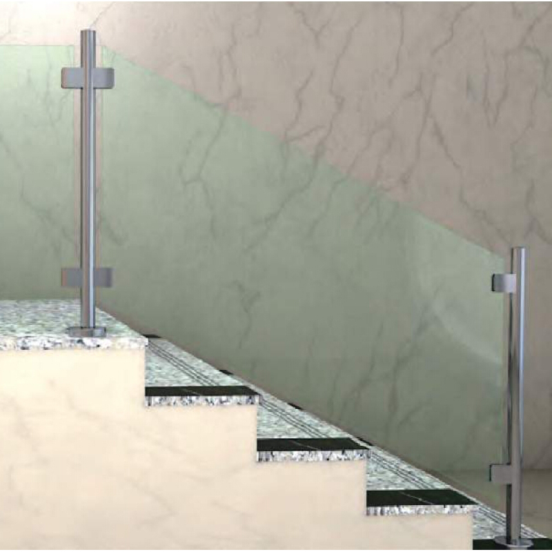 Italian design frameless railing accessories stainless steel fixed glass panel clamp
